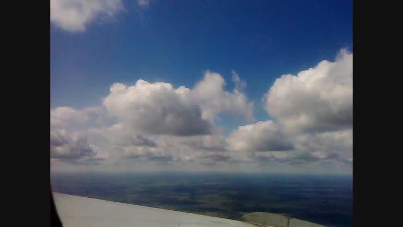 Заоблачный полёт снято с самолета Москва Махачкала