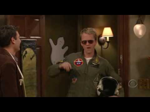 Probably the best scene from How I Met Your Mother - Barney Stinson as Top Gun's Maverick