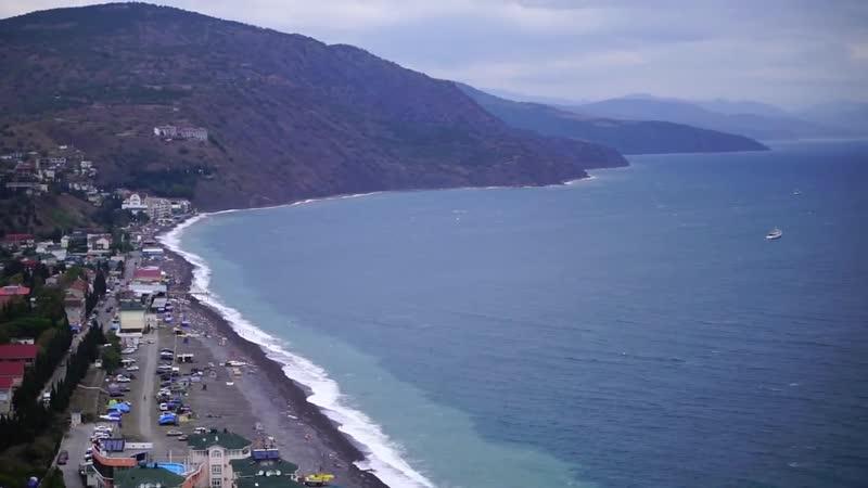 Крым Едем из Алушты в Судак Пляжи под Кемпинг Где отдыхать с палаткой на ЮБК