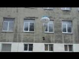 Питерские студенты запустили кота с парашютом из окна