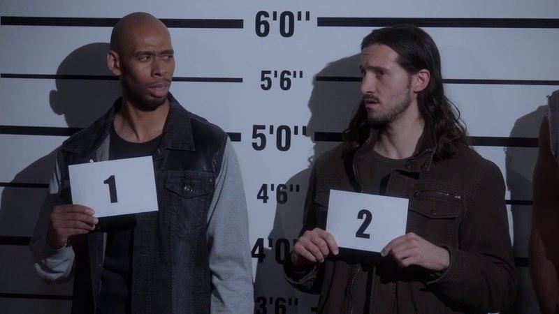Brooklyn Nine-Nine - FUNNIEST INTRO SCENE EVER - suspects sing Backstreet Boys song - S05E17