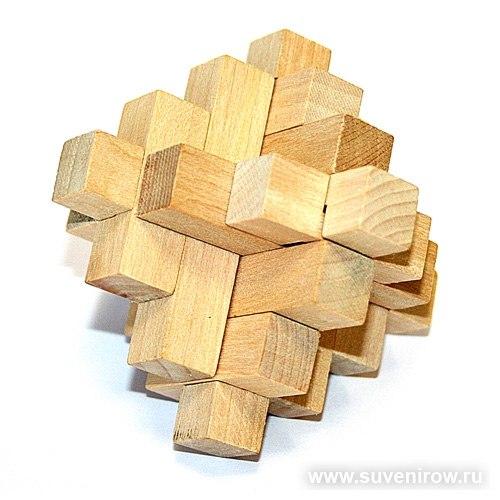 головоломка из дерева как