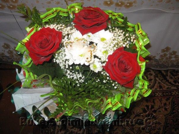 Букеты живых цветов своими руками фото