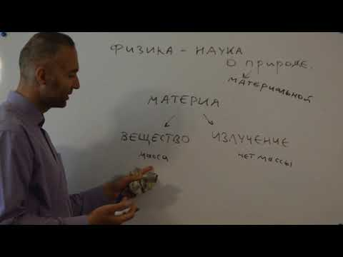 Физика - наука о материальной природе (PS7) - (школьная физика)