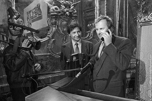 Первый звонок по сотовому телефону в СССР.