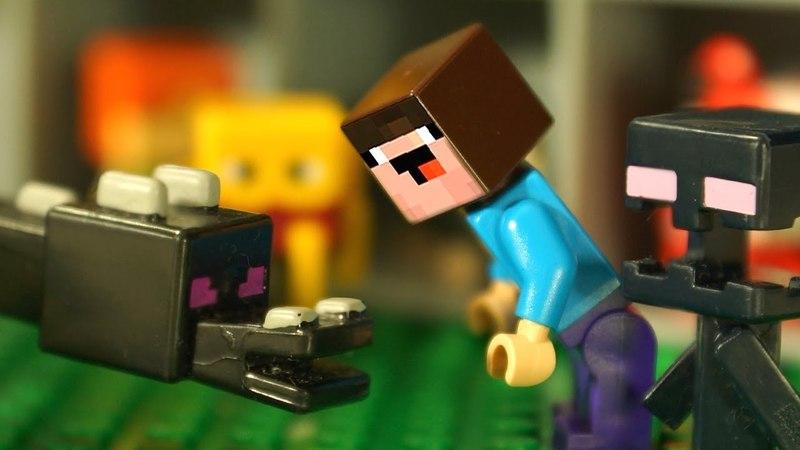 ЭНДЕР ДРАКОН 🐲 Лего Нубик Майнкрафт Мультики Все Серии Подряд Мультфильмы для Детей Игрушки