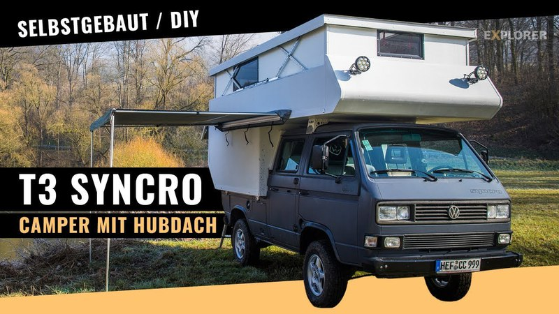 T3 Syncro Camper mit selbst gebauter Kabine (inkl. Hubdach)