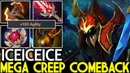 Iceiceice [Nyx Assassin] Mega Creeps Comeback Crazy Gameplay 7.20 Dota 2