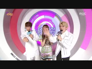 150214 minho shinee  zico block b  kim sohyun   mc cut @ music core[1]
