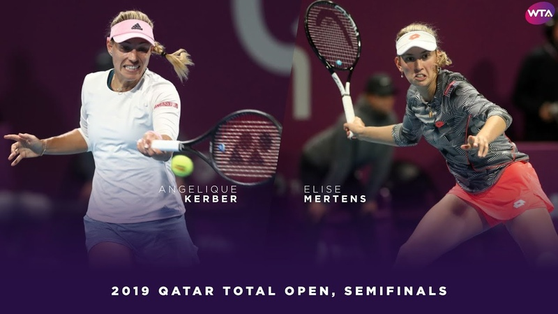Angelique Kerber vs Elise Mertens 2019 Qatar Total Open Semifinals WTA Highlights