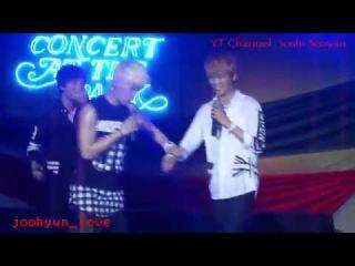 NOM 엔오엠 Ain, Yohan & K - Sexy Dance at Luneta Park (140615)