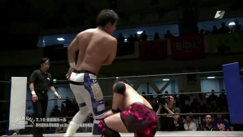 Jake Lee, Koji Iwamoto vs. Naoya Nomura, Yuma Aoyagi (Riki Choshu Produce - Power Hall 2018 ~ Battle of Another Dimension)