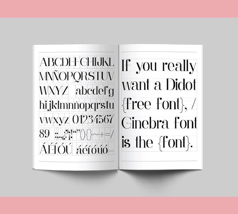 шрифт ginebra font