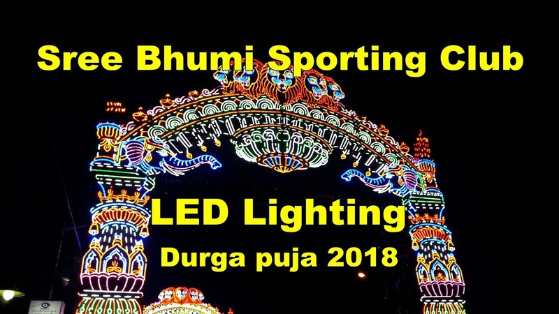 LED Lighting at Sree Bhumi Sporting Club Durga Puja 2018