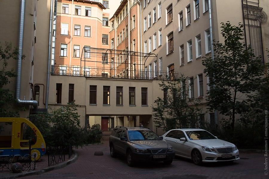Доходный дом С. М. Дейчмана флигель брендмауэр фонтан