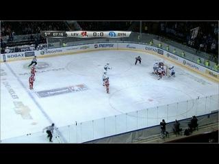 В регулярном первенстве КХЛ третье поражение подряд потерпели динамовцы Москвы - Первый канал