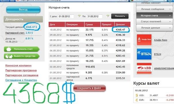 Отчет за 06.08.2012 по 10.08.2012