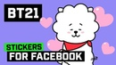 [BT21] Stickers For Facebook : Love Peace