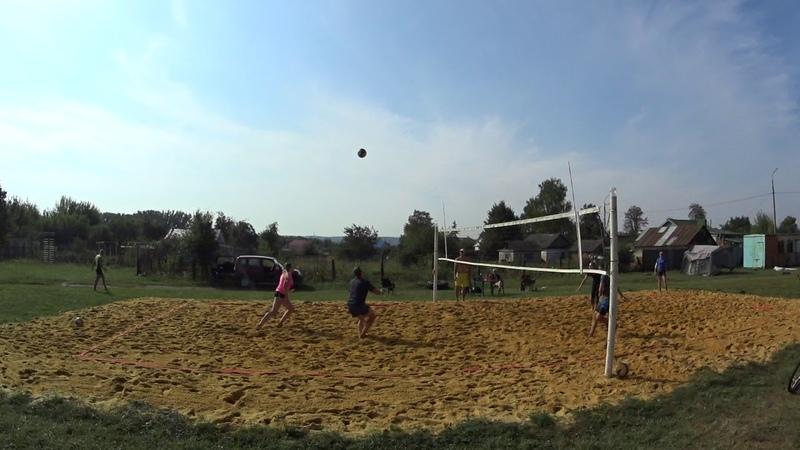 Игра 1 Пляжный волейбол - закрытие сезона микст Новосиль 2018/09/15