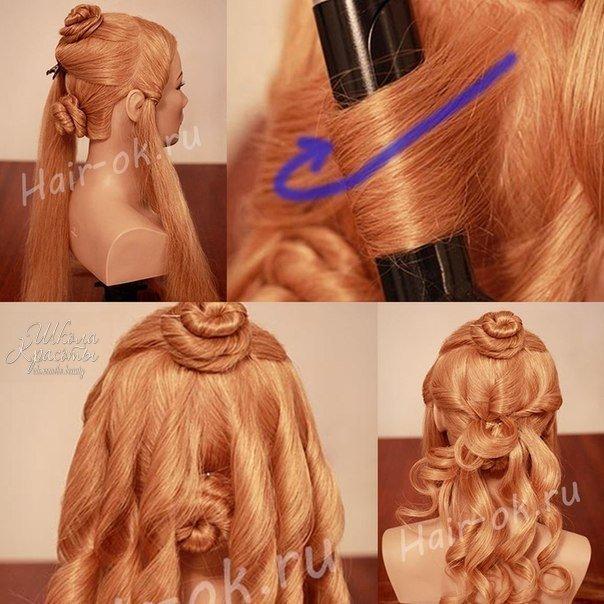 Как сделать красивую причёску из локонов