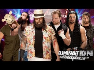 WWE The Shield vs The Wyatt Family Elimination Chamber 2014