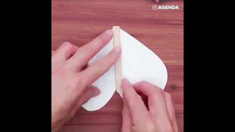 Бумажная летающая Бабочка