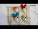 Tutorial Интересный узор Детские лица спицами Дизайн вышивки и вязания