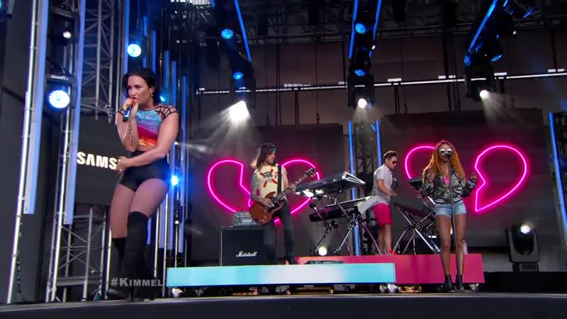 Demi Lovato – «Cool For The Summer» - (Live at Jimmy Kimmel Live, NYC – 2015)