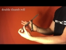 Balisong Tutorial - (Double Thumb Roll) - Advanced 9.5
