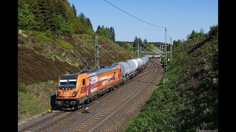 Güterzüge auf der Frankenwaldbahn - HSL, TXL, Rheincargo, Raildox uvm.