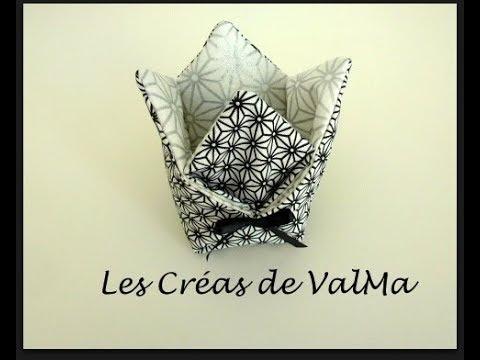 Vide-poche origami - Panier Tulipe - Ballotin Cesta tulipán vacíabolsillos Subtitulo enespañol