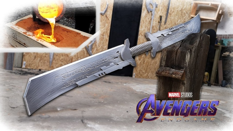 Making THANOS NEW Sword From Avengers Endgame REVEALED (Aluminum Casting)