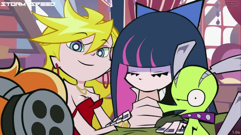 PANTY AND STOCKING WITH GARTERBELT - Panty give blowjob