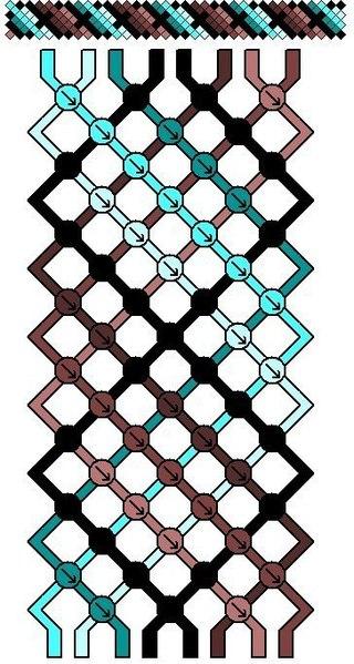 фенечки из мулине ( схемы и
