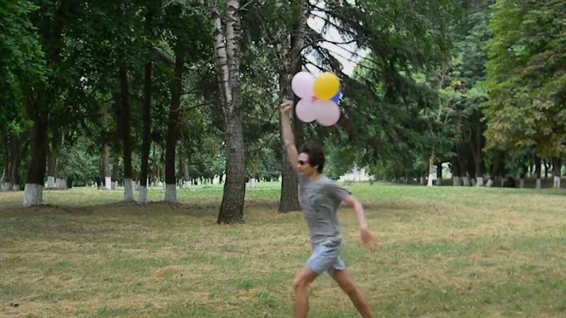 пытаюсь улететь на воздушных шариках