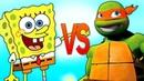 ГУБКА БОБ VS ЧЕРЕПАШКИ НИНДЗЯ СУПЕР РЭП БИТВА Spongebob Squarepants ПРОТИВ Ninja Turtles episode