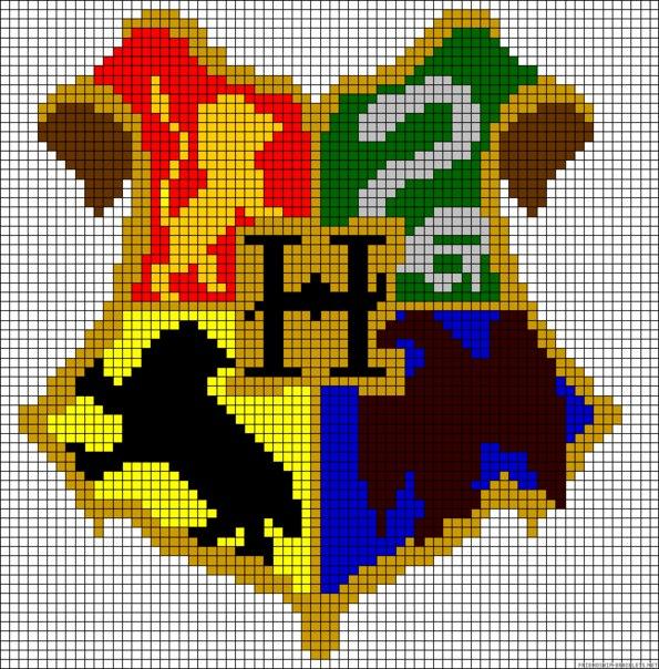 Схемы для вышивки герба хогвартса