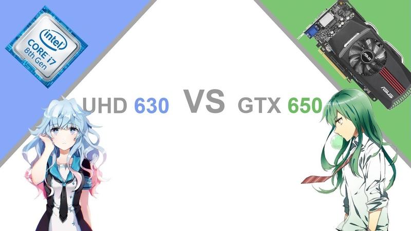 UHD 630 vs GTX 650. Самый предсказуемый тест в мире, ну или...