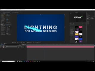 Add lightning effects to motion graphics after effects tutorial