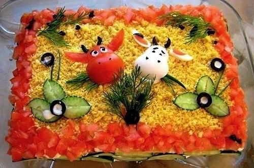 Красивые блюда на день рождения рецепты