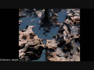 The upcoming landscape in Venus is so big we had to rewrite how Warframe uses the GPUs depth buffer. This is the