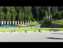 Летняя тренировка итальянских биатлонистов