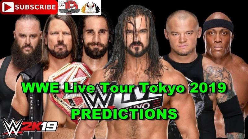 WWE Tokyo 2019 Seth Rollins, Braun Strowman, AJ Styles vs Drew McIntyre, Baron Corbin, Bobby Lashley