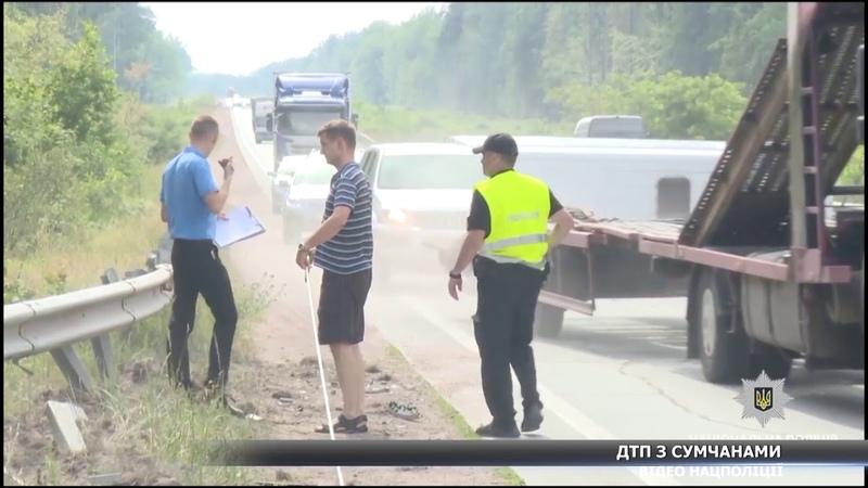 Мікроавтобус із сумчанами потрапив в ДТП під Житомиром
