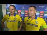 Sporting CP vs Chelsea 0 : 1 - Nemanja Matic & John Terry post-match interview