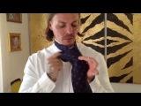 Как правильно и оригинально завязать платок и галстук!