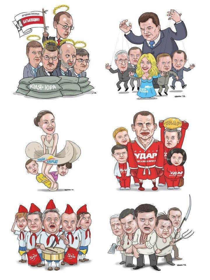 Карикатура на політичні партії України