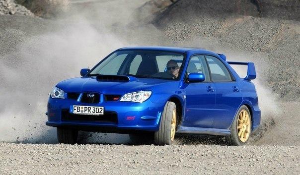 Subaru WRX STI  Объем: 2457 см³ Мощность: 280 л.с. Крутящий момент: 392 Нм Привод: Полный Максимальная скорость: 255 км/ч Разгон до сотни: 5.4 сек