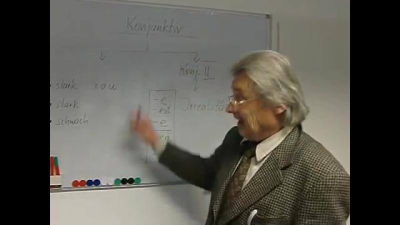 Deutsch lernen Grammatiktafel Bildung des Konjunktivs II