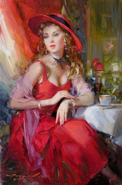 Константин Разумов (1961 г р.)-российский современный художник специализирующийся на фигуративной и портретной живописи в жанре импрессионизм и реализм.В изображении женского образа художник